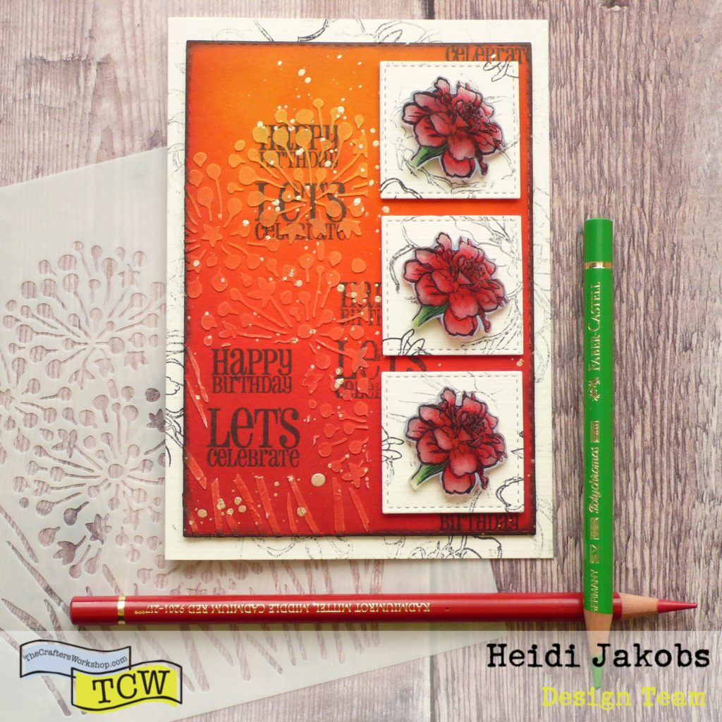 How to create a fun and easy Spring card using stencils and Grafix Arts Shrink Film