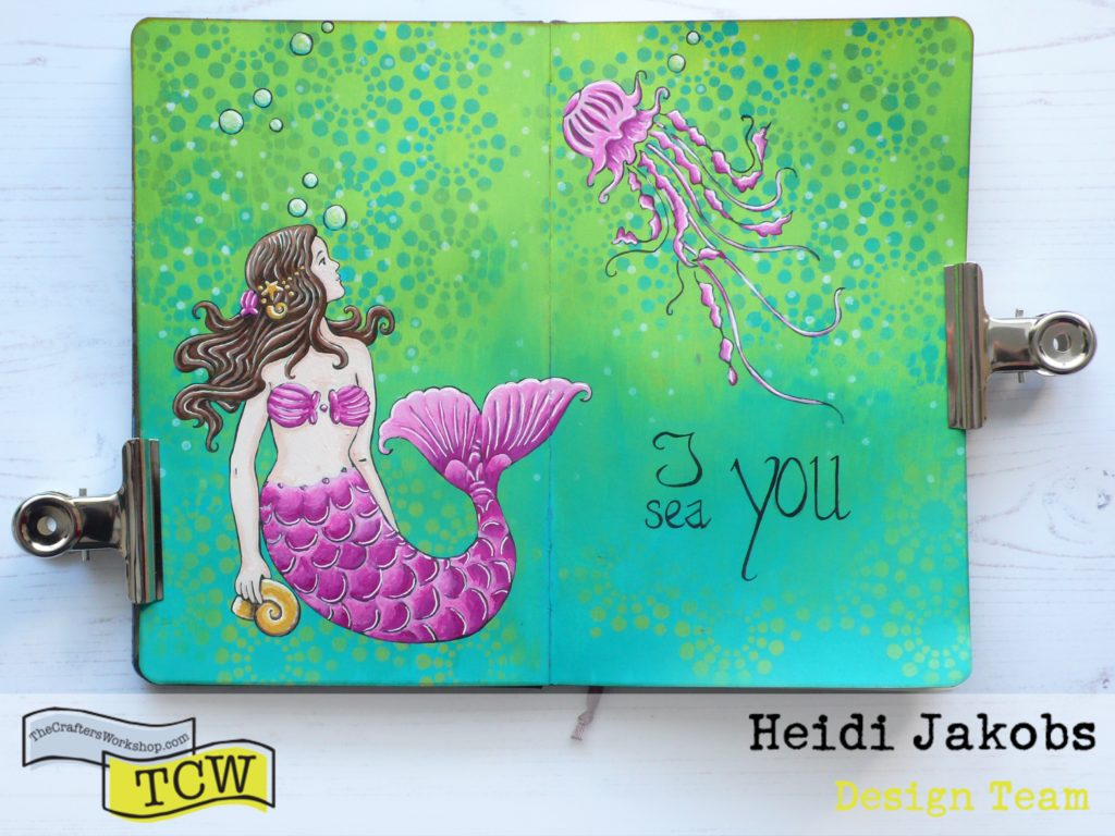 How to use your stencil as a template to create a fun painting