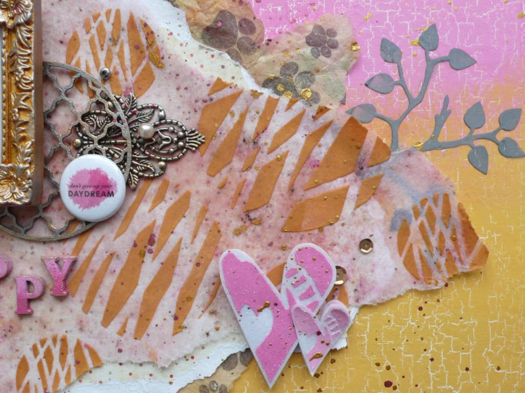Step by step tutorial on how to create a fun and girly canvas project