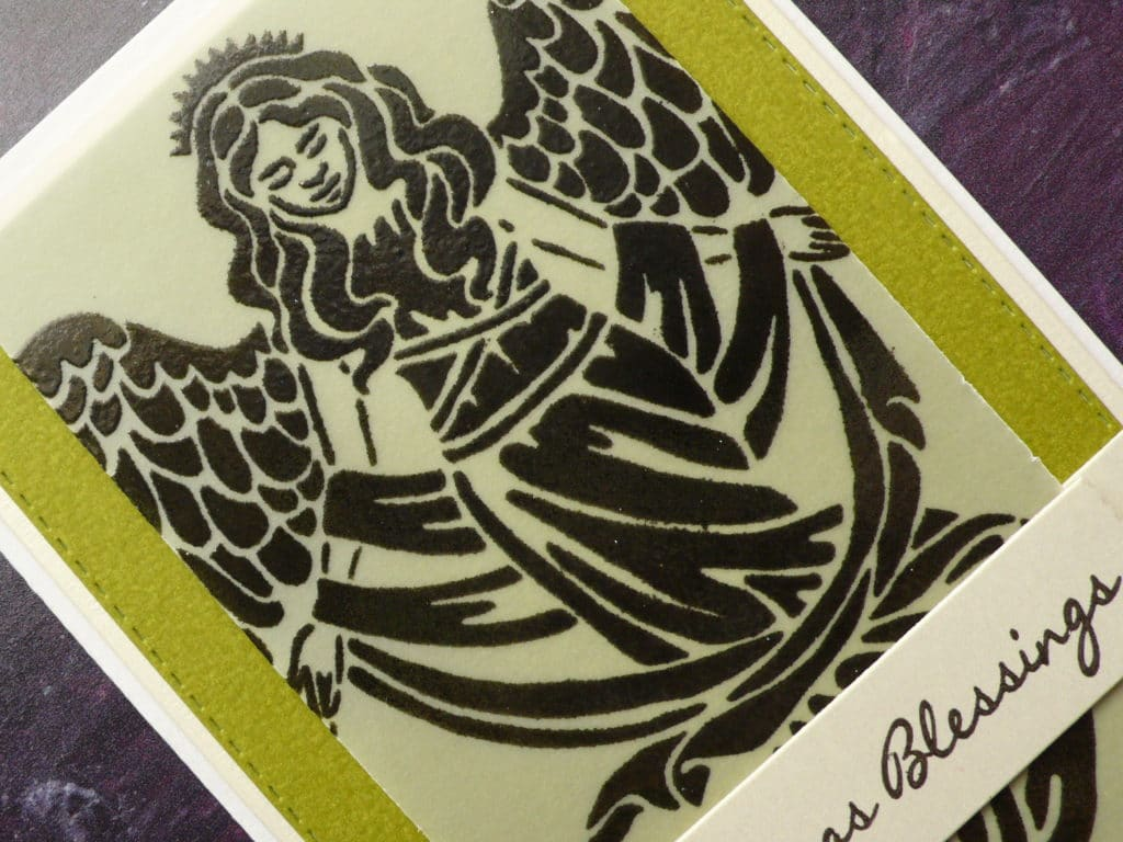 How to create easy Christmas cards using an Angel stencil