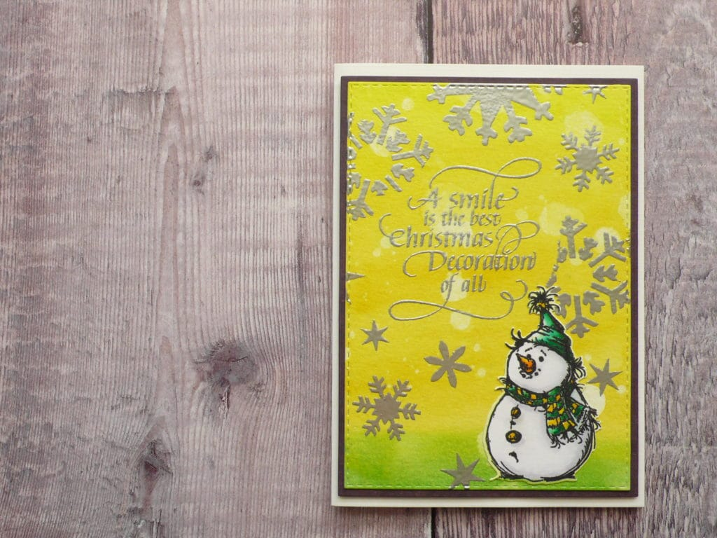 How to create fun and easy DIY Christmas cards using TCW stencil