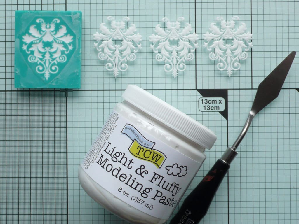 How to create a fun and elegant card using moulds made from modeling paste