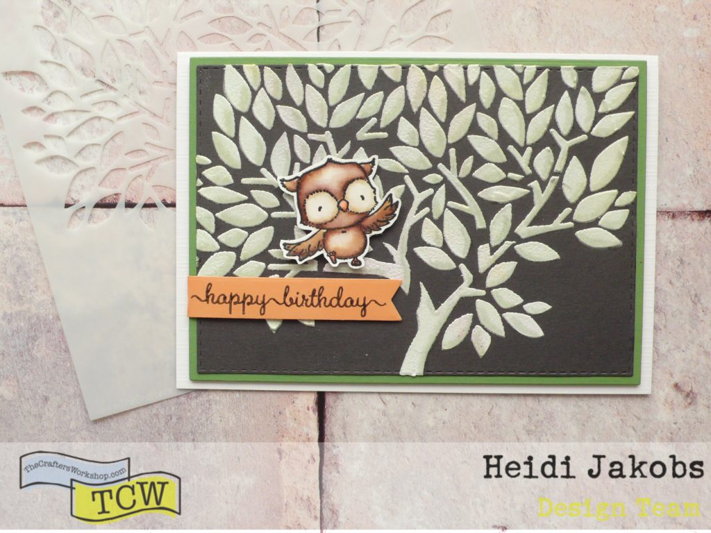How to create a fun card project using TCW Modeling Paste on dark background