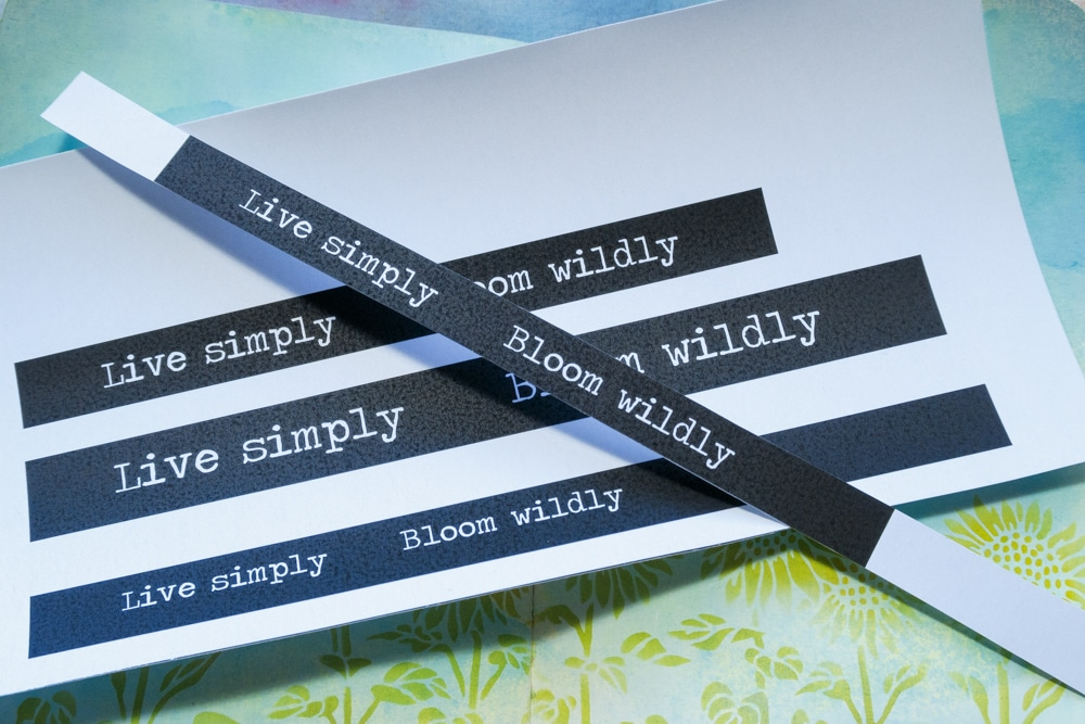 The Crafter's Workshop Blog - how to create customised text