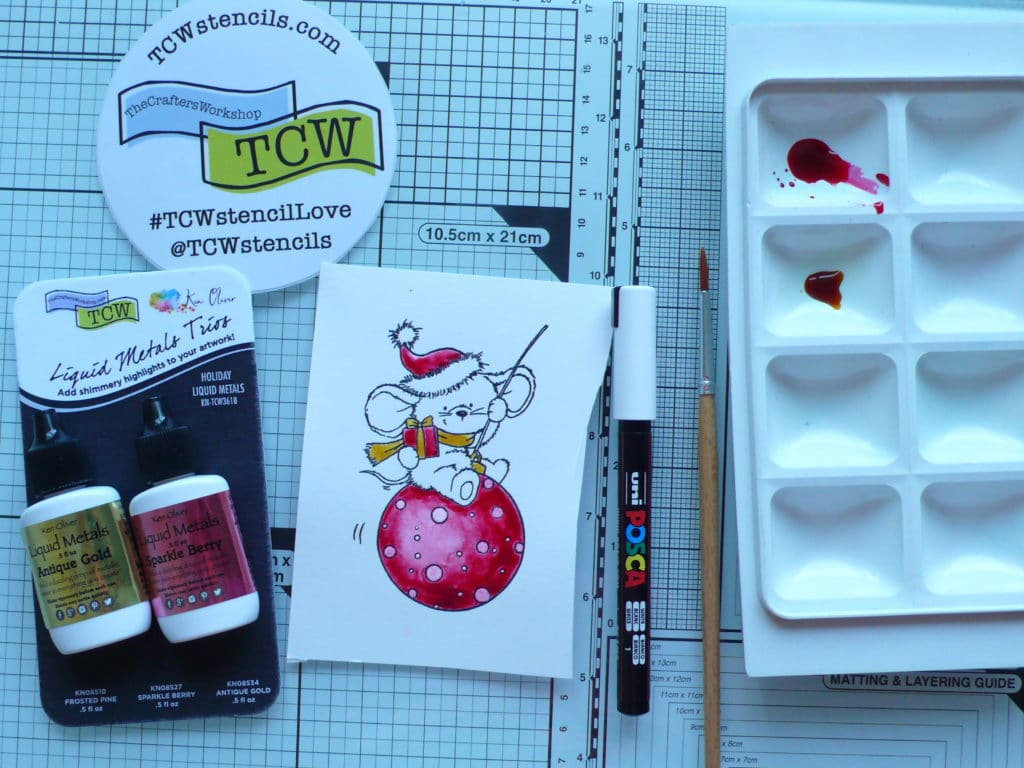 Step by step tutorial on how to create a fun Christmas card