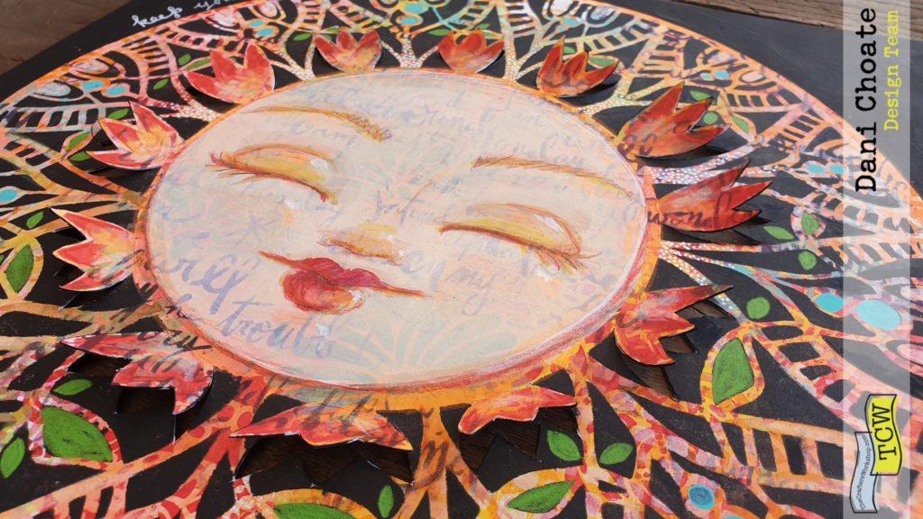 sunshine face illustration using TCW827 Spring Medallion