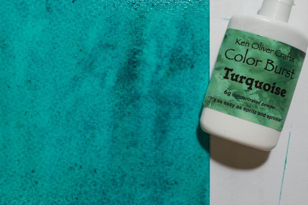 Turquoise Ken Oliver Color Burst background