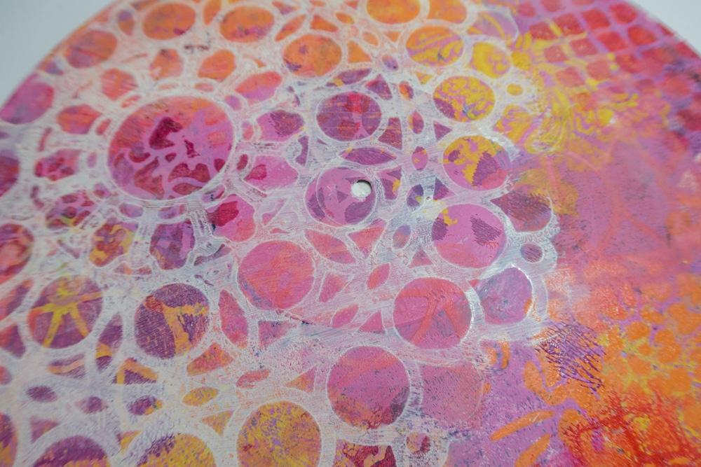 Stencilled layer