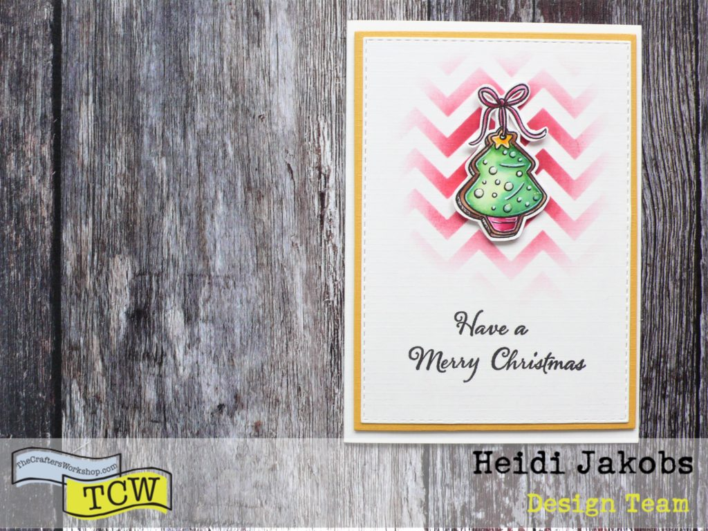 Tutorial on how to create Clean And Simple Christmas cards using TCW stencils