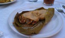 tamal de pasas y pollo, La Teca