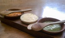 salsas and oregano butter, Los Danzantes