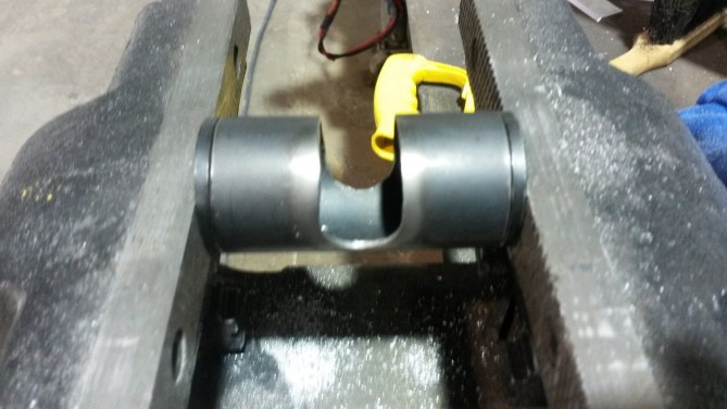 Pressing the bearing mounts in