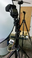 Flash setup behind diffuser