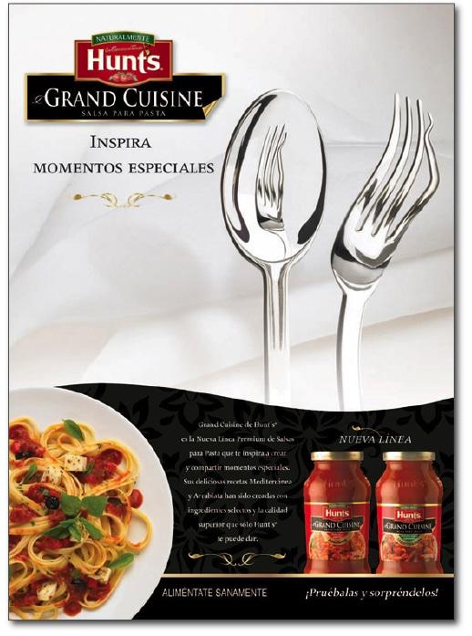 Publicidad Hunt's Grand Cuisine Espejo