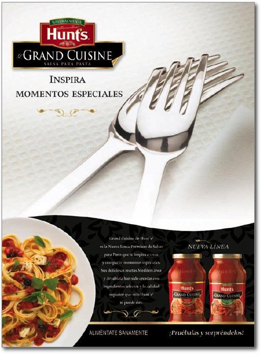 Publicidad Hunt's Grand Cuisine Tenedores