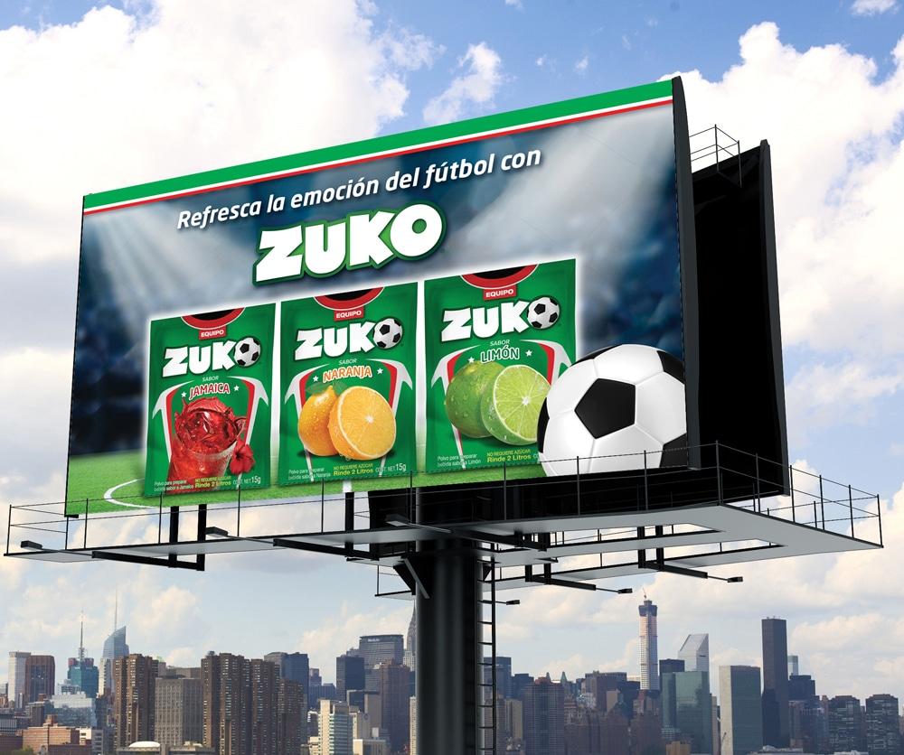 Zuko Mundial Billboard TD2 Branding