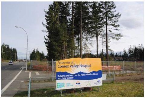 Comox Hospital Sign