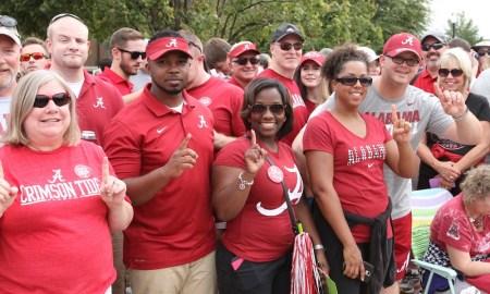 Alabama fans at Bryant-Denny Stadium