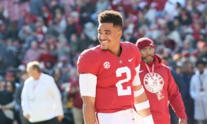 Jalen Hurts smiling