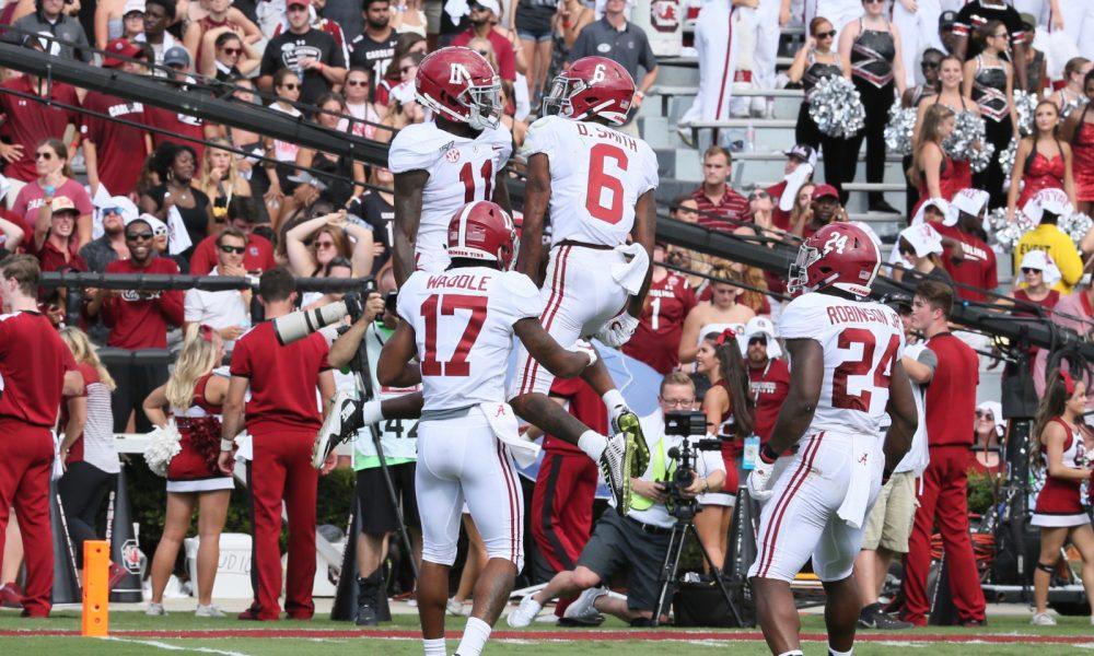 "Alabama ""Rydeouts"" smoke Tide DB's in 100 meter relay race - Touchdown Alabama - Alabama Football"