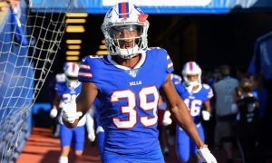 Levi Wallace emerges from tunnel for 2019 game with Buffalo Bills