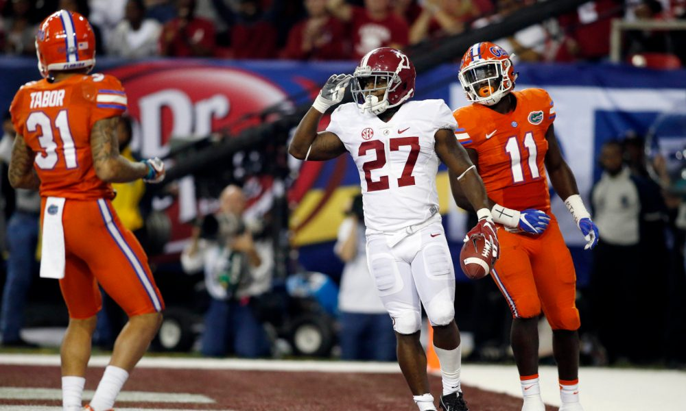 Derrick Gore scores rushing touchdown for Alabama versus Florida in 2016 SEC title game