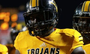 Terrence Ferguson in Peach county HS football uniform