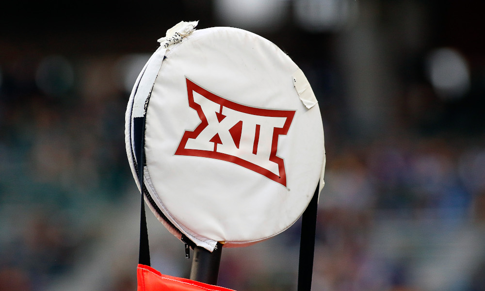 A look at Big 12 logo on the chains during a 2016 matchup between TCU and Baylor in 2016