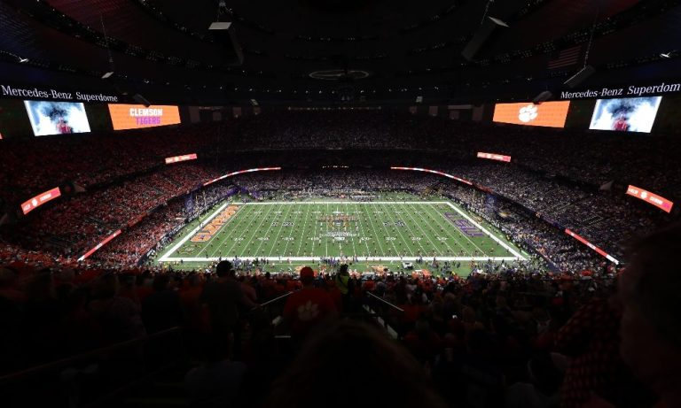 Field shot of LSU vs. Clemson National Championship Game