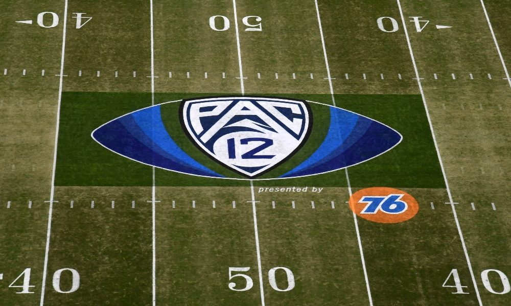 Mid-field Pac-12 logo from conference championship game