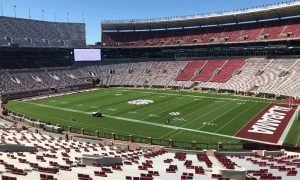 View of Bryant-Denny Stadium from the new press box