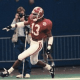 George Teague, Alabama safety, celebrates a pick-six versus Miami in 1993 Sugar Bowl