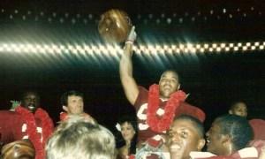 Cornelius Bennett celebrates bowl victory at Alabama