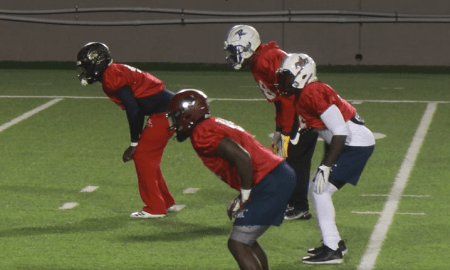 Alabama LB commits Ian Jackson and Deontae Lawson practice for Al-MS all-star game