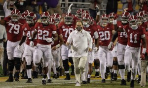 Nick Saban and Alabama take the field for matchup against LSU