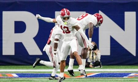 Malachi Moore celebrates big play for Alabama in SEC title game