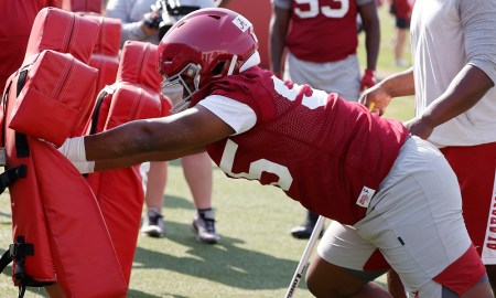 Monkell Goodwine at Alabama football spring practice