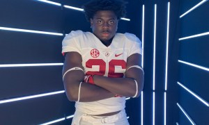 David Hicks poses for Alabama picture during visit