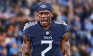 Photo of Julio Jones wearing No. 2 for the Tennessee Titans