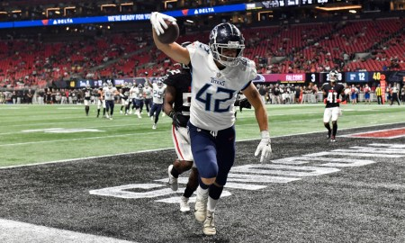 Miller Forristall catches TD pass for Titans versus Falcons in NFL Preseason Game
