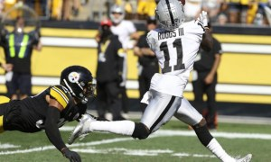 Henry Ruggs with a 61-yard TD catch for Raiders versus Steelers