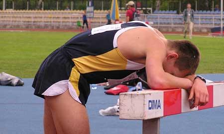 Atleta agotado