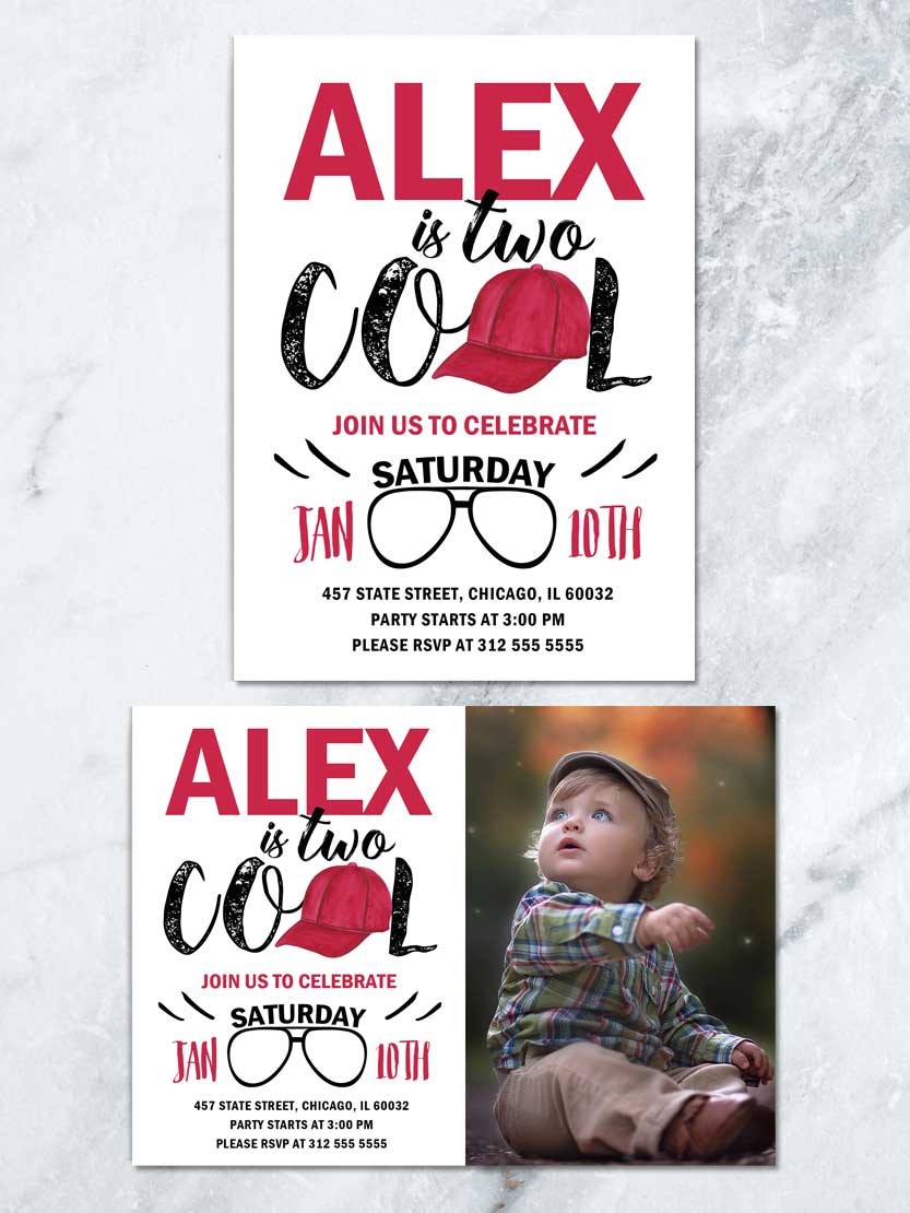 two cool birthday invitation two cool birthday party boy 2nd birthday printable invite