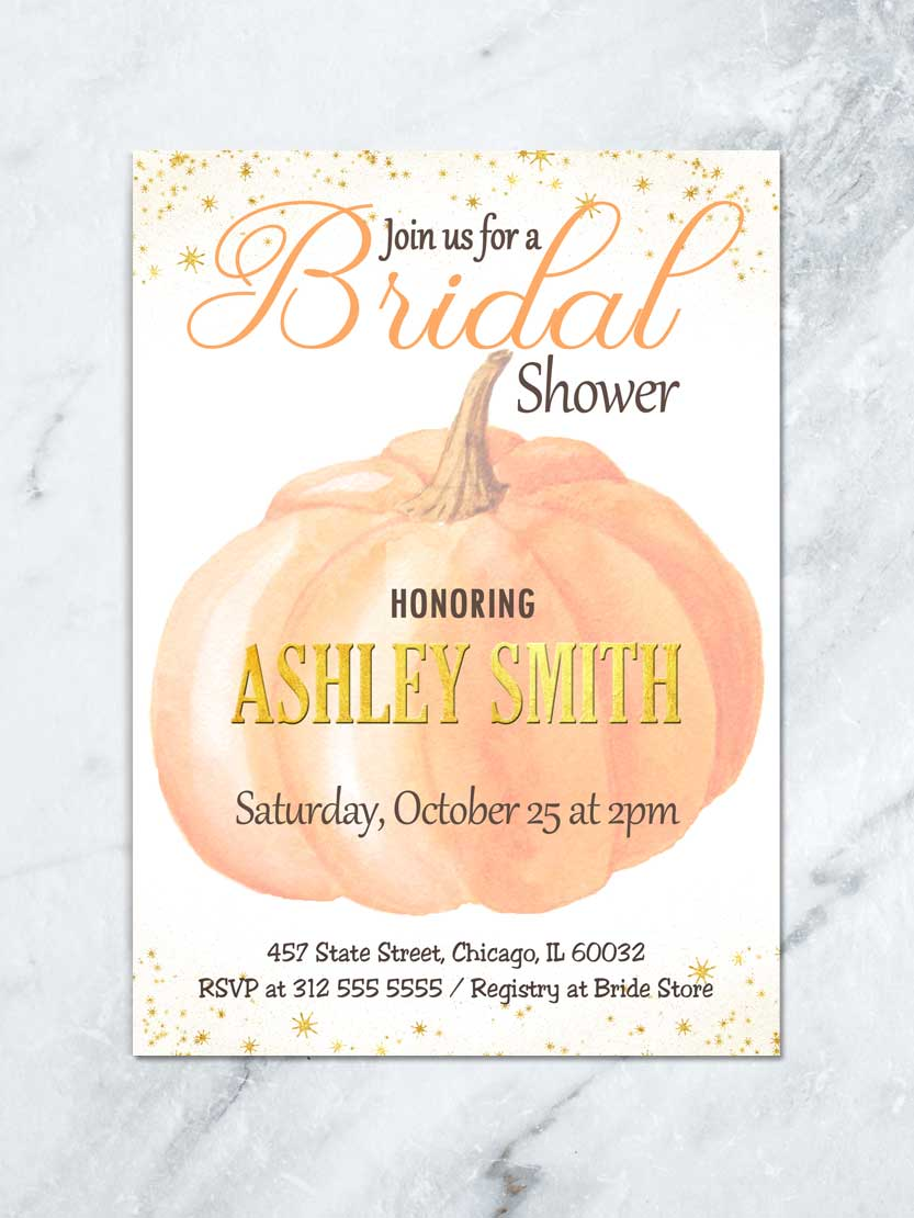 Surprise the bride with these unique bridal shower gifts that they'll actually want. Fall Bridal Shower Invitation Autumn Bridal Shower Invite Fall In Love Bridal Shower Pumpkin Bridal Shower Invitation Autumn Shower Tda Party On Paper