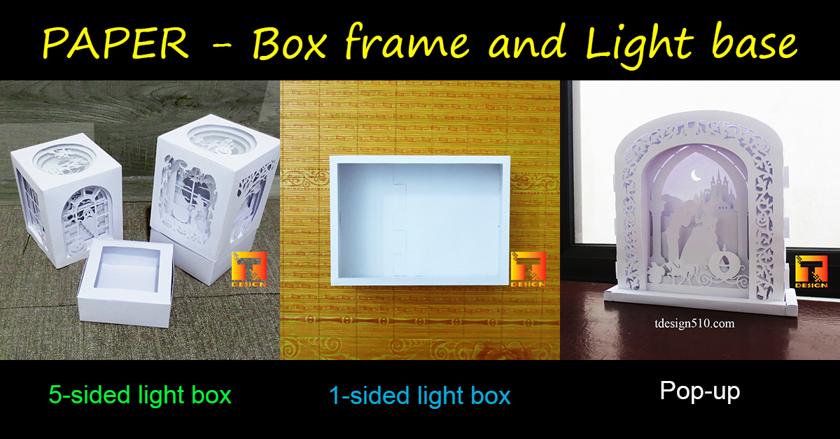 Paper-Box_frame-Light_base