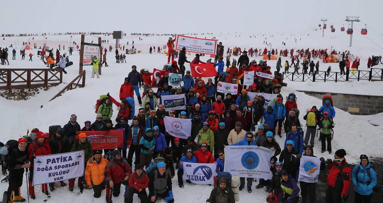 7. Geleneksel Uluslararası Hacılar Erciyes GSK Kulübü Erciyes Kış Tırmanışı