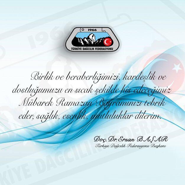 TDF Başkanı Doç. Dr. Ersan Başar'dan Ramazan Bayramı Mesajı