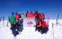 Dağ Kayağı İleri Seviye Eğitimi Erzincan'da düzenlendi.