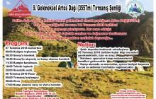 9. Geleneksel Artos Dağı Tırmanış Şenliği Daveti
