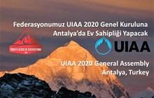 UIAA 2020 Genel Kurulu Türkiye'de düzenlenecek!